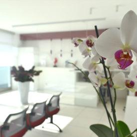 Sala d'attesa centro Dermo Estetica Miori