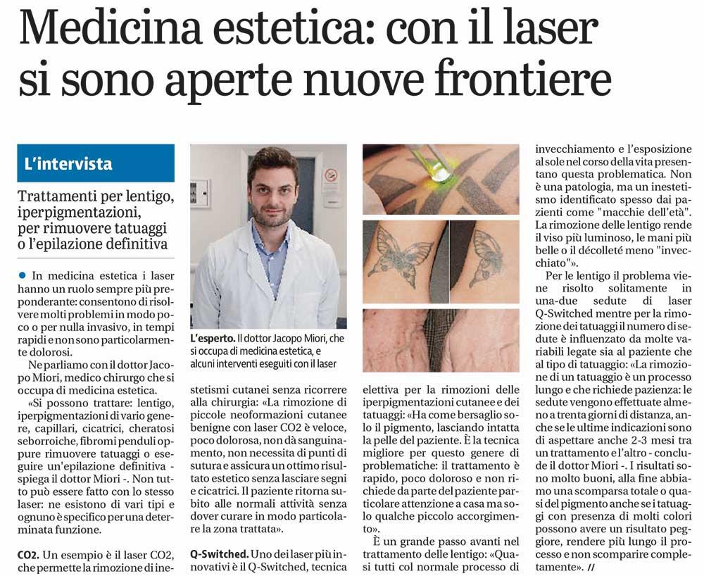 laser per rimozione tatuaggi e epilazione definitiva dermoestetica miori